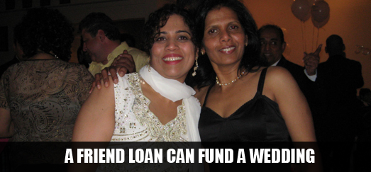 peer loan paid for a wedding